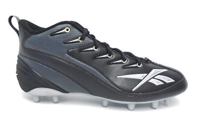 a0f98a56d5ec9 Reebok NFL Pro 4 Speed III Mid M2 Black and Grey Football Cleats - Size 11.5