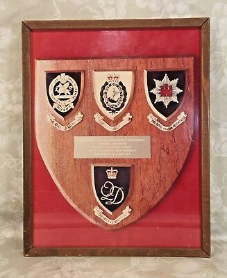 Vtg WWII Reunion Piece Framed The Queen's Division 91st Bombardment Group B-17s