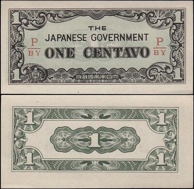PHILIPPINES 1 Centavo, 1942, P-102b, UNC, Japanese Government, WWII