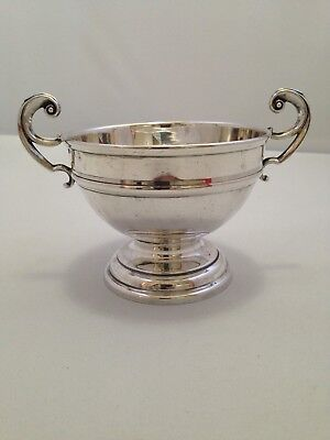 Edwardian Sterling Silver Two Handled Sugar Bowl - William Sparrow 1907 - 188g