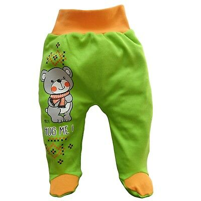 *NEW* Baby Boys/Girls Trousers/Leggings with feet *100% Cotton 9-12 Months