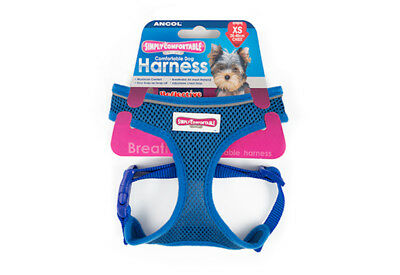 Ancol Comfort Soft Mesh Padded Adjustable Blue Harness extra Small 28 - 40 cm
