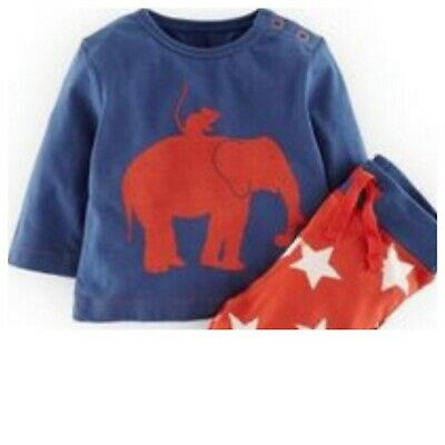 Ex Baby Boden Blue Elephant Tops T Shirts 3-6, 6-12, 12-18, 18-24, 2-3Yrs