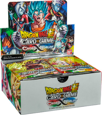 DRAGON BALL SUPER TCG Crossed Worlds BOOSTER BOX of 24 LOOSE packs!