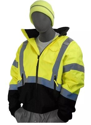 Majestic Glove 75-1313 PU Coated Polyester High Visibility Bomber Jacket (HH)
