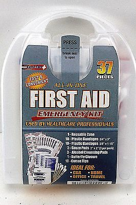 All-In-One First Aid Emergency Kit. 37 Pieces. For Car,Home,Office,Travel.