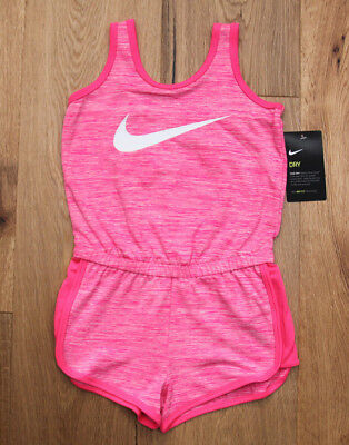 Nike Girl Romper ~ Pink & White ~ DRY-FIT ~