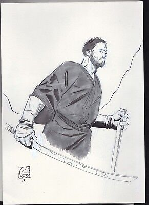 Stephen Green  - Zatoichi - Blind Samurai Original Comic Art Sketch Commission