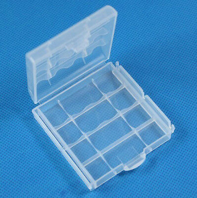 Hard Plastic Case Holder Storage Box Cover For Rechargeable AA AAA Battery A 2PC