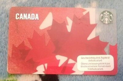 Starbucks Canada 2012 Maple Leaves Gift Card Unloaded Bilingual Unswiped