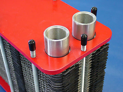 70kW Stainless Steel Plate Heat Exchanger m3-54-20-a2 Demountable Sealed Screwed