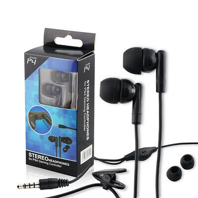 HOT Earphone Headset Earbud w/ Mic For Sony PS4 Playstation 4 Gaming Controller