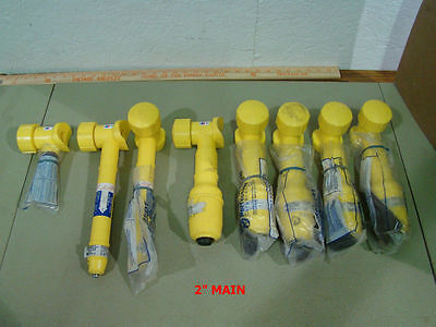 25pc LOT NEW Chevron Plexco HDPE Fusion Butt Tap In Taping Tee Gas Service Line