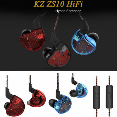 KZ ZS10 HiFi Hybrid Earphone In-Ear Wired Earbuds Four Balanced Armature Drivers
