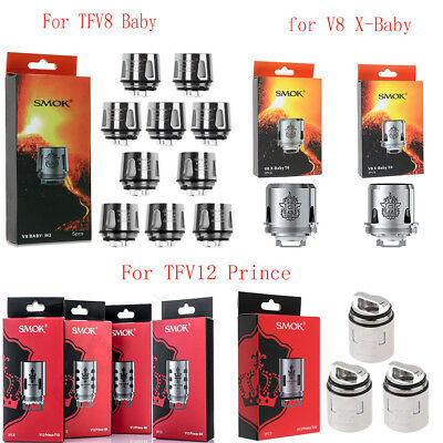 Replacement Coils For TFV8 Baby V8 X-Baby V12 Prince M2 Q2 X4 T6 T8 T10 Q4 Tank