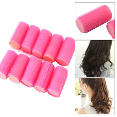 Hair Rollers Perfect For Sleeping In Curling Accessory Pretty Pink Soft 10 Pack