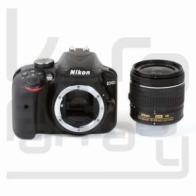 NUEVO Nikon D3400 Digital SLR Camera + AF-P 18-55mm f/3.5-5.6G VR Lens (Kit Box)