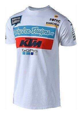 Tld Troy Lee Designs Ktm Team Tee 2018 Weiss