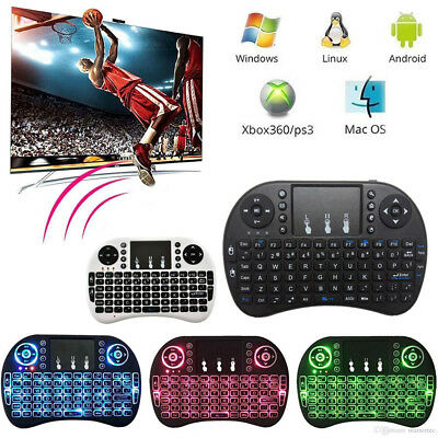 2.4GHz Backlit Wireless Mini Touchpad Keyboard Air Mouse For PC Android TV Box