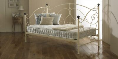 Package Deal 3Ft Milano Ivory Daybed With Zeus Micro Quilted Damask Mattress