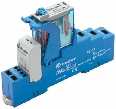 Finder 4C Series[Blank] 230V ac DIN Rail Interface Relay Module, SPDT, Cage Clam