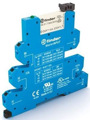 Finder 39 Series[Blank] 230V ac DIN Rail Interface Relay Module, SPDT, Push In
