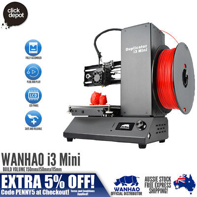 2018 WANHAO DUPLICATOR i3 MINI 3D PRINTER > FULLY ASSEMBLED > ALL PARTS INCLUDED
