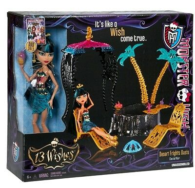 NEW Monster High Oasis Playset & Cleo de Nile doll by Mattel RARE & VHTF
