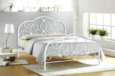Bedfactory Deal Sale On  All Sizes Alexis White Bed With Micro Quilt Mattress
