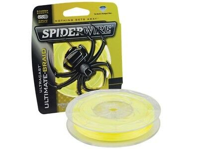 Spiderwire Ultracast Fluorobraid Yellow/ 110m 125yds/ Made in USA / 0.10mm-0.22m
