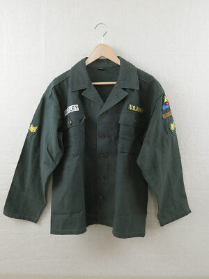 US ARMY Fatigue Hemd Elvis Presley Shirt Jacke Vietnam Uniform Spearhead GI