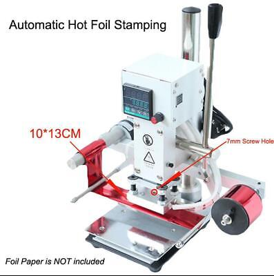 Automatic Leather Hot Foil Stamping Machine 8*10CM Digital 220V Logo Embossing e