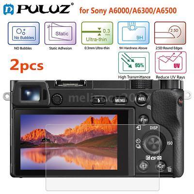 2pcs Puluz 9H Tempered Glass Screen Protector for Sony A6000/A6300/A6500 F7F6