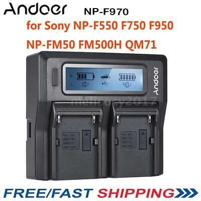 Andoer 2*NP-F970 Battery Plate Dual/Four Channel for Sony NP-F550 F750 F950 V3C6