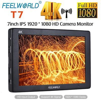 "Feelworld 7"" 4K ULTRA HD LED 1920*1200 IPS DSLR Camera Video Field Monitor HDMI"