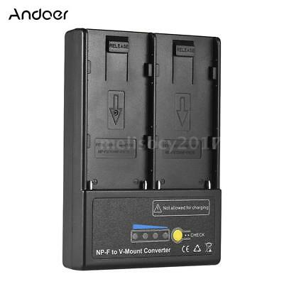 V-Mount V-Lock for SONY NP-F550 NP-F750 F970 Battery Charger Power Supply C7W2