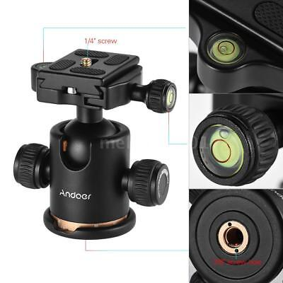 """Andoer Video Camera Tripod Stand Ball Head with Quick Release Plate 1/4"""" Screw"""