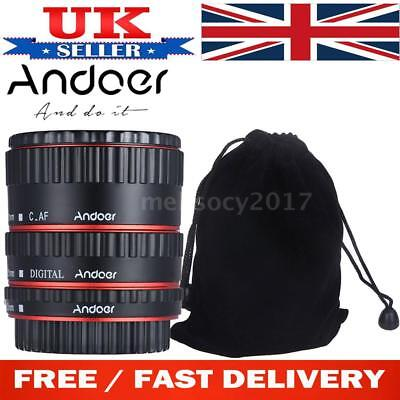 Andoer Auto Focus TTL Macro Camera Lens Adapter Ring Extension Tube for Canon EF