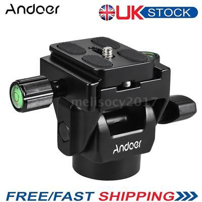 Andoer M-12 Monopod Tilt Head DSLR Panoramic Head with Quick Release Plate Clamp