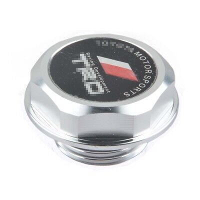 Silver TRD Style Engine Oil Filter Cap Fuel Tank Cover Plug for Toyota Auto
