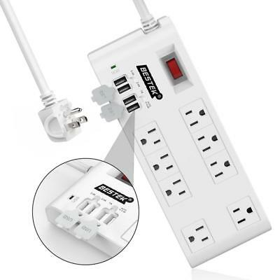 BESTEK 8-Outlet Surge Protector Power Strip with 4 USB Charging Ports and...