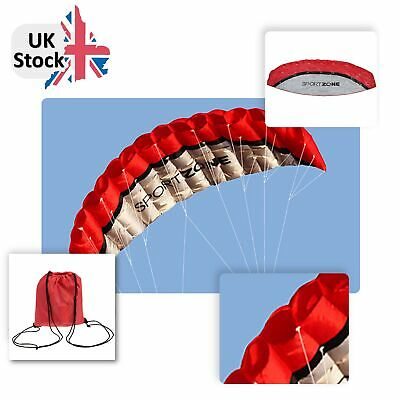 Outdoor Sports 2.5m Power Soft Kite Dual Line Stunt Parafoil Kite with 30m Line