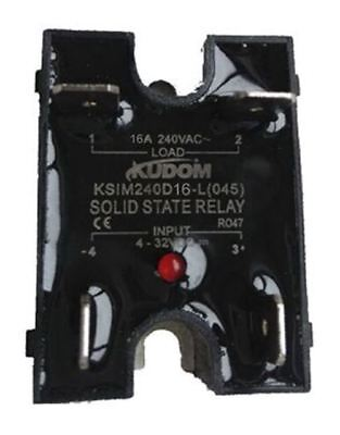 Kudom 16 A Solid State Relay, Zero Cross, Panel Mount Triac, 280 V ac Maximum Lo