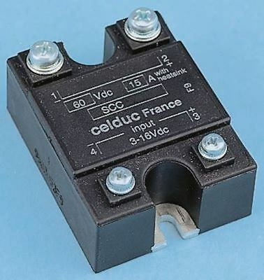 Celduc 15 A Solid State Relay, 60 V dc Maximum Load