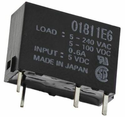 Omron 0.6 A SPNO Solid State Relay, PCB Mount MOSFET, 264 V ac Maximum Load