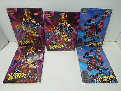 Lot of 5 Team Metal Marvel X-Men Spider-Man Metal Stand-Ups or Wall Decor
