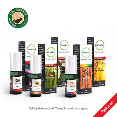 iBreathe Premium Liquid Refills - Over 50 Flavours - Passed Sell By Date 10ml