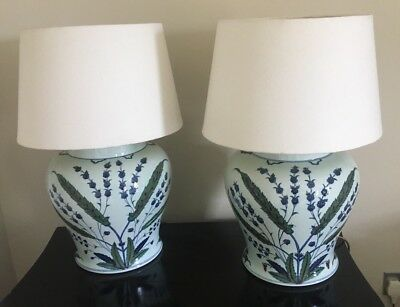 Pair of oka iznik large table lamps with shades 42900 picclick uk pair of oka iznik large table lamps with shades aloadofball