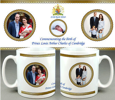 PRINCE Louis Arthur Charles Cambridge #6 - ROYAL BABY MUG CUP - WILLIAM KATE DI