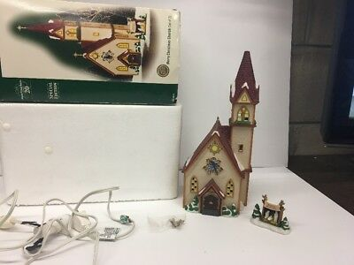 RARE Dept 56 Merry Christmas Church Alpine Village 56237 20th anniversary 2006